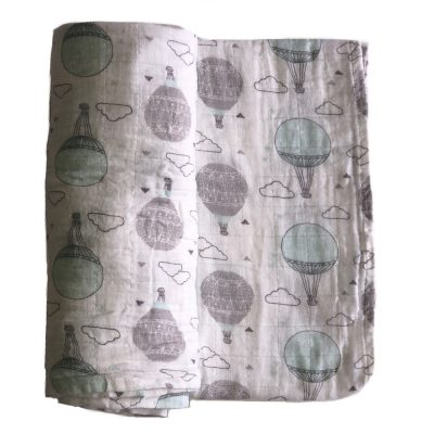 baby boy girl lemon swaddle cotton blanket