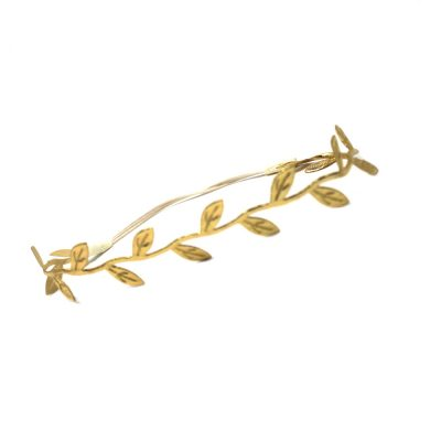 baby girls gold leaf stretchy headband